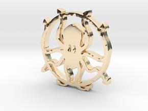 Kraken pendant in 14K Yellow Gold