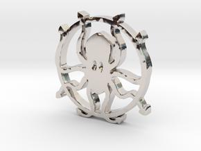 Kraken pendant in Platinum