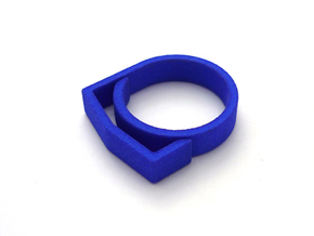 Adjustable ring for men. Model 4. in Blue Strong & Flexible Polished