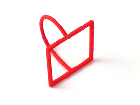 Square ring shape. in Red Processed Versatile Plastic