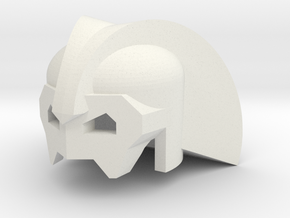 Robohelmet: Dark Hood in White Natural Versatile Plastic