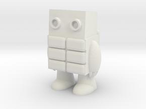 Little Guy from Secret Coders in White Natural Versatile Plastic