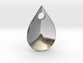 dragon scale droplet in Polished Silver
