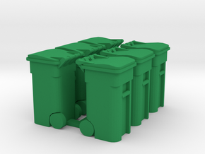 Trash Cart (6) Closed- 'O' 48:1 Scale in Green Processed Versatile Plastic