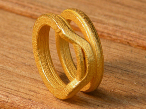 Balem's Ring1 - US-Size 9 (18.89 mm) in Polished Gold Steel