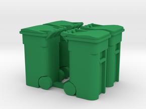 Trash Cart (4) Closed- 'O' 48:1 Scale in Green Processed Versatile Plastic