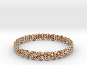 Wicker Pattern Bracelet Size 12 in 14k Rose Gold