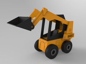 Bobcat Loader (1:20 Scale) in White Natural Versatile Plastic