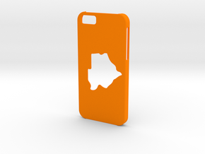 Iphone 6 Botswana Case in Orange Strong & Flexible Polished