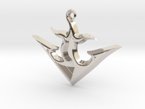 ANCHOR 2 in Rhodium Plated Brass