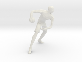 Basketball Player Miniature in White Natural Versatile Plastic