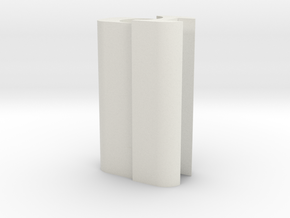 Saber Tube Holder in White Strong & Flexible