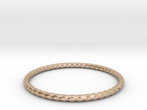 Diamond Pattern Bracelet USA Size Medium in 14k Rose Gold
