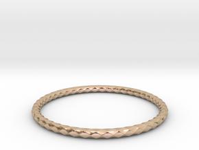 Diamond Pattern Bracelet USA Size Small in 14k Rose Gold