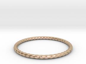 Diamond Pattern Bracelet USA Size Small in 14k Rose Gold Plated Brass