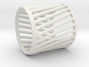 Napkin Ring Twist in White Natural Versatile Plastic