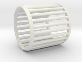 Napkin Ring Cage in White Natural Versatile Plastic