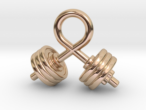 Strength Of The Bodybuilder in 14k Rose Gold Plated Brass