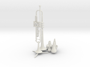 Michael's Mini Trumpet (Complete Set) in White Natural Versatile Plastic