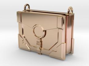 """The Traveler"" Locket (4cm, No Symbol) in 14k Rose Gold Plated Brass"