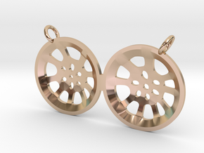 "Double Second ""Essence"" steelpan pendant, M in 14k Rose Gold"
