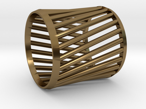 Napkin Ring Twist in Polished Bronze