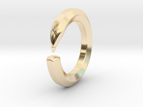 Herbert M. - Pencil Ring in 14k Gold Plated Brass: 9 / 59