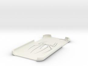 Black Spider iPhone 6 case  in White Natural Versatile Plastic