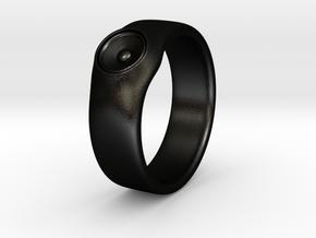Laura - Ring - US 9 - 19mm inside diameter in Matte Black Steel