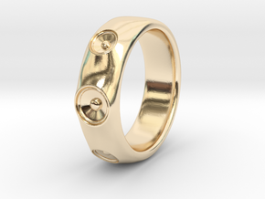 Laurane - Ring - US 9 - 19mm inside diameter in 14k Gold Plated Brass