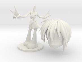 AniMe - Teeny Figurine - Schoolgirl in White Natural Versatile Plastic