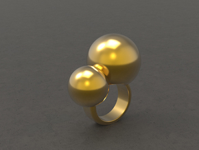 """BUBBLES""_Women ring in 18k Gold Plated Brass"