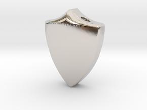 Defender Pendant in Rhodium Plated Brass