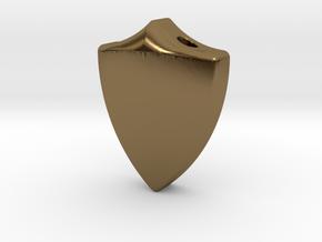 Defender Pendant in Polished Bronze