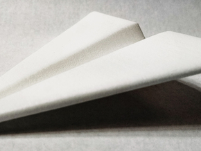 Paper Airplane 2 in White Strong & Flexible Polished