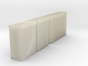 Relay cabinets (HO Scale) in White Acrylic