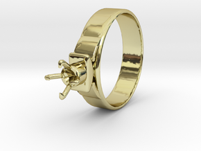 Design Ring Ø18.20 Mm For Diamond Ø5.2 Mm Model F2 in 18k Gold