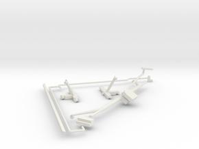 14-J Mission-Quad 1 Parts in White Natural Versatile Plastic