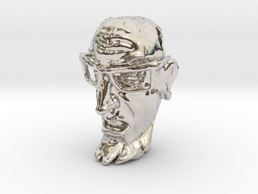 Dr Venture Pendent-Tiki style in Rhodium Plated Brass