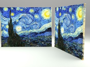 Starry Night (Vincent van Gogh) V 2.0 in Full Color Sandstone