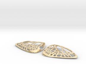 Metal Butterfly Earrings (L) in 14K Yellow Gold