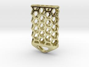 Hex Lantern X5: Tritium (All Materials) in 18k Gold Plated Brass