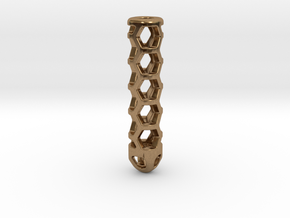 Hex Lantern X1: Tritium (All Materials) in Natural Brass
