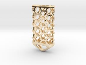 Hex Lantern X4: Tritium (All Materials) in 14K Yellow Gold