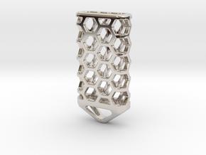 Hex Lantern X4: Tritium (All Materials) in Rhodium Plated Brass