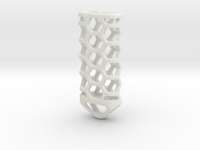 Hex Lantern X3: Tritium (All Materials) in White Natural Versatile Plastic