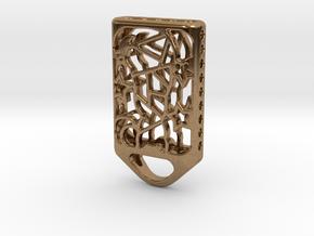 Cat Lantern 2: Tritium (Silver/Brass/Plastic) in Natural Brass