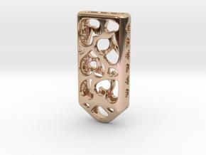 Heart Lantern X4: Tritium (All Materials) in 14k Rose Gold Plated Brass