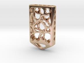 Heart Lantern X5: Tritium (All Materials) in 14k Rose Gold Plated Brass