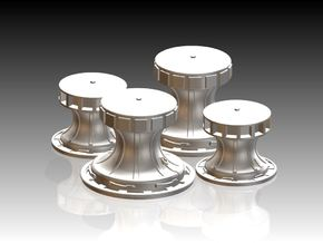 Capstans set 1/96 in Smooth Fine Detail Plastic